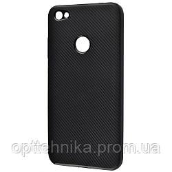 Carbon Protection Case (TPU) Xiaomi Redmi Note 5A Prime black