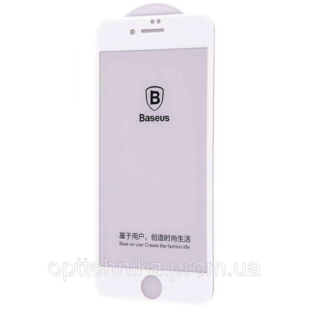 Защитное стекло Baseus 0.2 mm Arc-surface Tempered Glass iPhone 7/8 white
