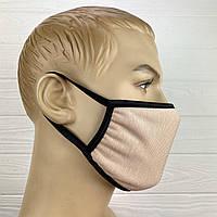 Многоразовая маска на лицо - Светлая пудра