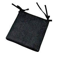 Подушка на стул черная с люрексом 35х35 см