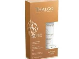 Набор Защита от солнца для лица Thalgo СЗФ 50+ Омолаживающий защитный крем 50мл Восстанавливающая маска 15мл