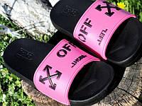 Женские Шлепанцы Летние резиновые розовые Off р.37,38,39,40,41, фото 1
