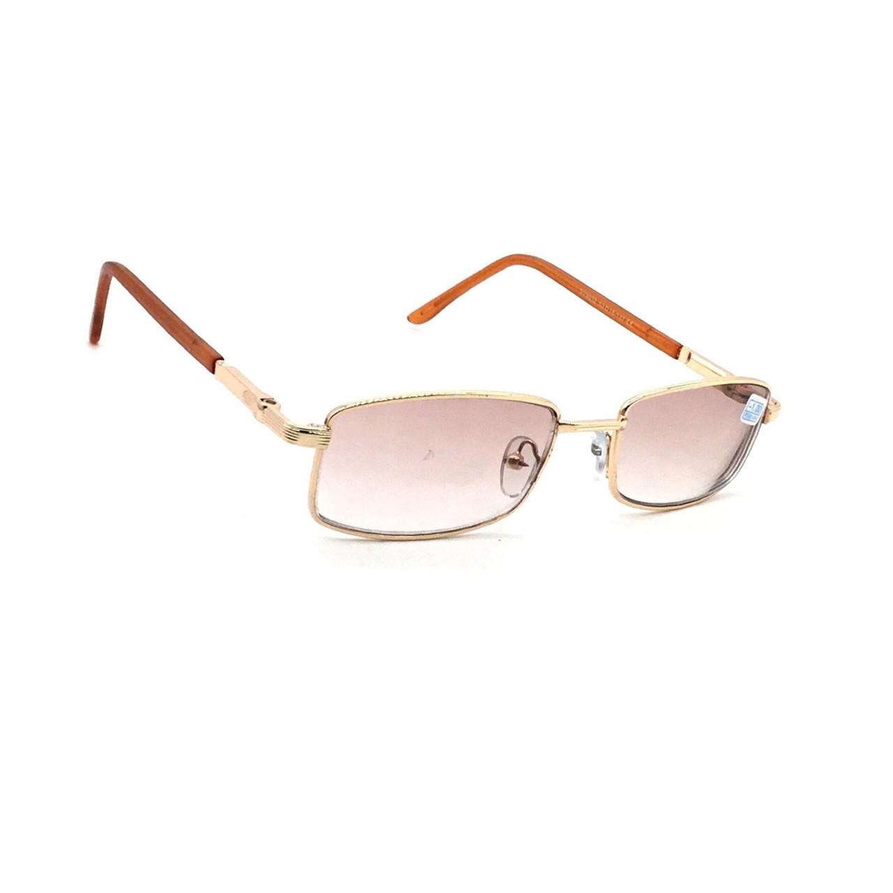 Молодежные очки в металлической оправе с тонированной линзой