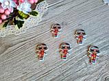 Серединка для бантиків (кабошон) лялька ЛОЛ (LOL) - Помаранчевий купальник, фото 2