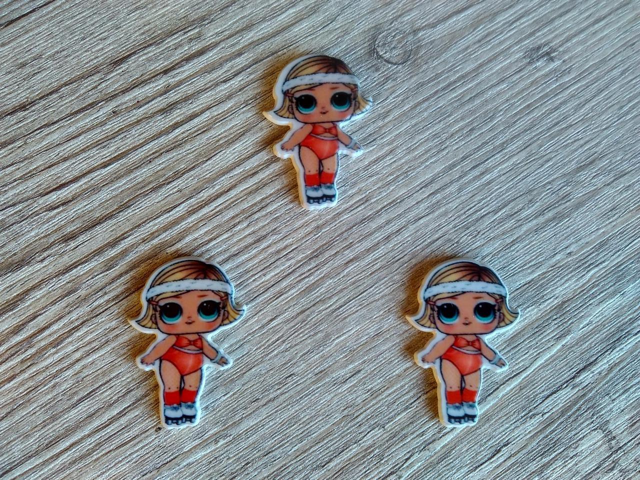 Серединка для бантиків (кабошон) лялька ЛОЛ (LOL) - Помаранчевий купальник