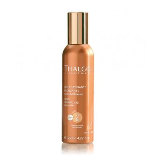 Атласное масло для загара Thalgo SPF6 Satin Tanning Oil 125 мл