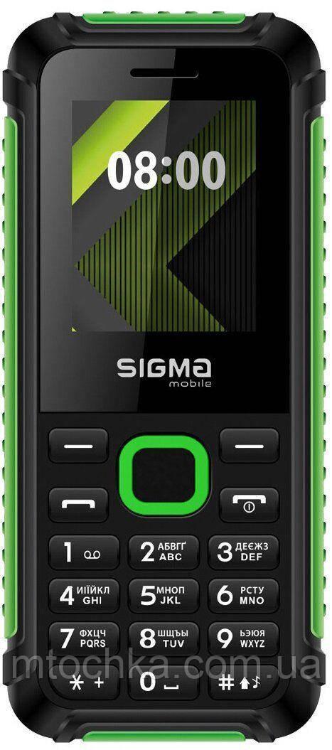 """Телефон Sigma mobile X-style 18 Track black-green(1,8""""/1000mAh) (офіційна гарантія)"""
