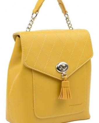 Городской женский рюкзак David Jones, желтый / жіночий рюкзак