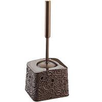 Туалетный комплект узорчатый коричневый