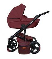 Детская универсальная коляска 2в1 Mikrus Comodo Silver 13 (Бордовая)