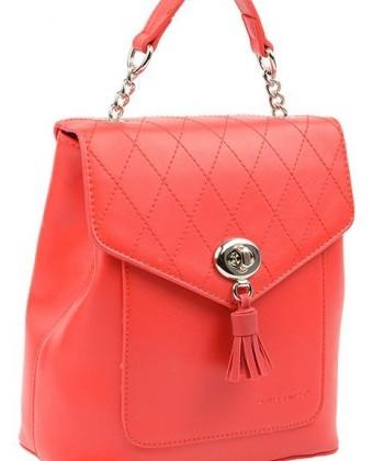 Стильный городской женский рюкзак David Jones, красный / жіночий рюкзак