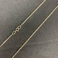 Золотая цепочка на шею 585 пробы мужская, женская, плетение двойной ромб, 55 см