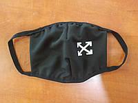 Защитная маска многоразовая двухслойная тканевая