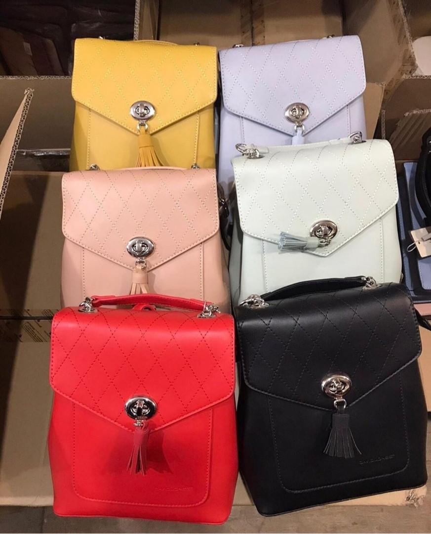 Вместительный городской женский рюкзак David Jones / жіночий рюкзак шкіряний