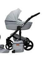 Детская универсальная коляска 2в1 Mikrus Comodo Silver 8 (Светло-серая)