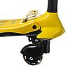 Детский самокат 16-1 колёса PU светятся сиденье родительская ручка цвет красный, фото 5