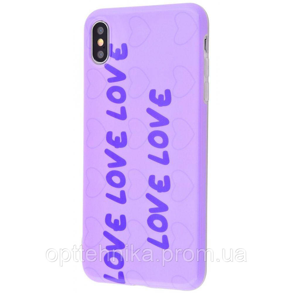 Violet glossy case (TPU) iPhone Xs Max 01