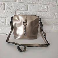 """Женская кожаная сумка """"Тринити Silver"""", фото 1"""