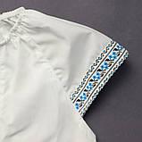 Вышиванка для девочки SmileTime Ethnic, голубой узор, фото 2