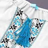 Вышиванка для девочки SmileTime Ethnic, голубой узор, фото 3