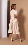 Стильний пудровий костюм з блузою і кюлотами Style-nika Алеканто., фото 2