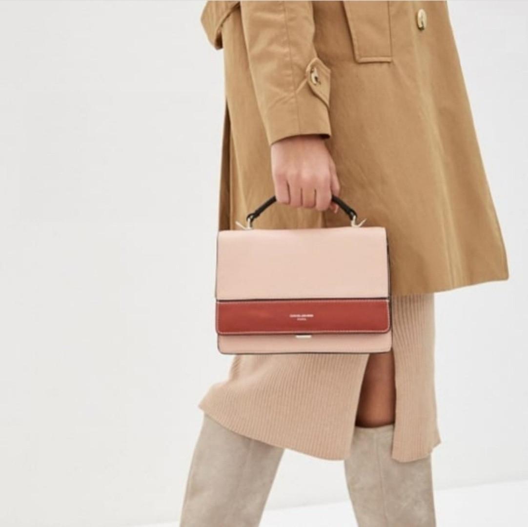 Женская сумка David Jones, розовая / клатч Дэвид Джонс / сумка жіноча