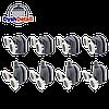Ролики для душевых кабин, комплект ( В-43 D+С ), фото 3