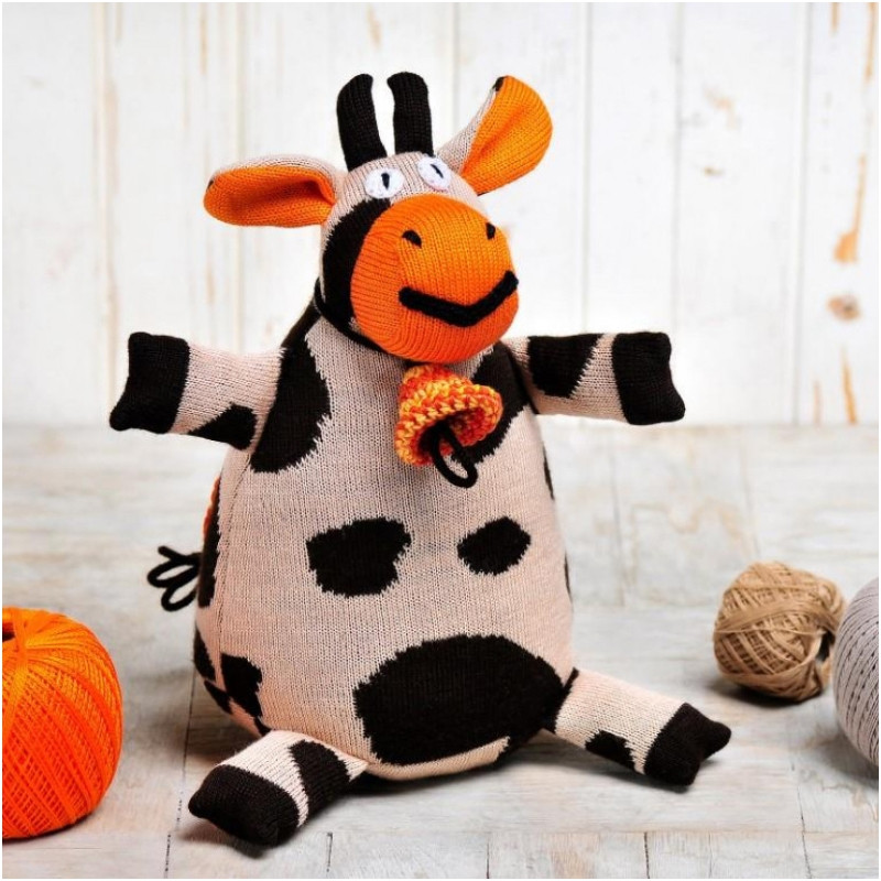 Вязаная кукла ФРЕЯ «Корова Карамелька»