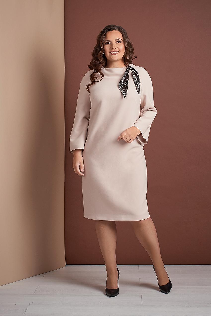 Платье свободного кроя из костюмной ткани Style-nika Жаклин.