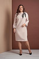Платье свободного кроя из костюмной ткани Style-nika Жаклин. 56