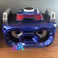 Портативная музыкальная Bluetooth Колонка Диджей DJ-787 беспроводная акустическая система синяя, фото 1