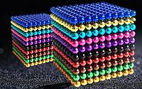 Головоломка Neocube Неокуб радуга 512 шариков 5мм  + Коробка + мешочек + карточка в Подарок