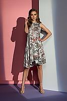 Летнее платье А-силуэта в цветочный принт .Style-nika Танго.