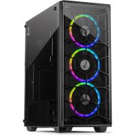 "Корпус Inter-tech (C-907 COBWEB), ATX MIDI-tower, Black, Max CPU Cooler Height Up to 160 mm,  ATX/m-atx/itx, 3x2.5"", 2x3.5"",  2xUSB 2.0, 1xUSB 3.0,"