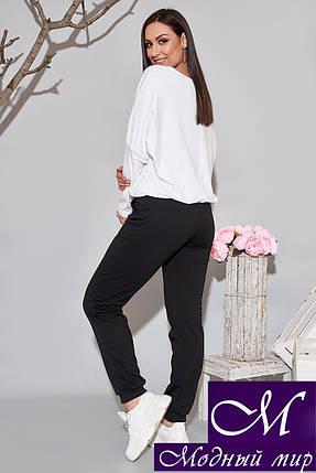 Черно-белый спортивный костюм женский (р. 48, 50, 52, 54) арт. 34-564, фото 2