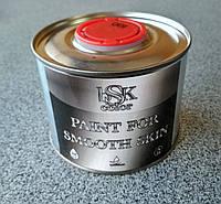 """Краска для гладкой кожи """"BSK color"""" белого цвета 0.5 литра"""