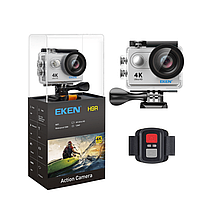 Action Camera Eken H9R Ultra HD с пультом (Серебристый), фото 3
