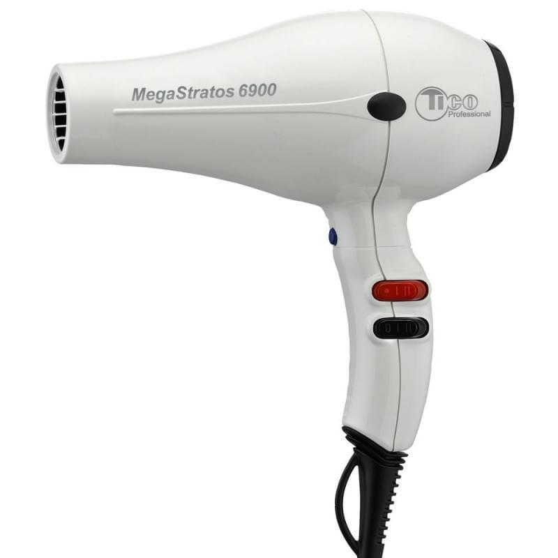 Профессиональный фен для волос TICO Professional Mega Stratos 6900 White 2500W