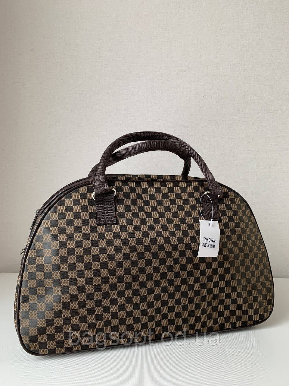 Коричнева жіноча дорожня сумка саквояж ручна поклажа