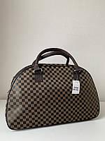Коричнева жіноча дорожня сумка саквояж ручна поклажа, фото 1