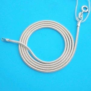 Серебряная цепочка Змейка Снейк (45 см, 4 г), цепь из серебра 925 пробы