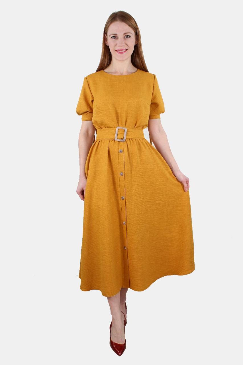 Элегантное платье с пуговицами на юбке 44-50 р ( разные цвета )