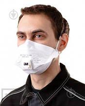 Защитный респиратор - маска для лица 3M VFlex 9162Е FFP2 с клапаном. Бесплатная доставка при заказе упаковке