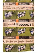 Бумажные полотенца однослойные 22*24 см Selpak 250 шт белые