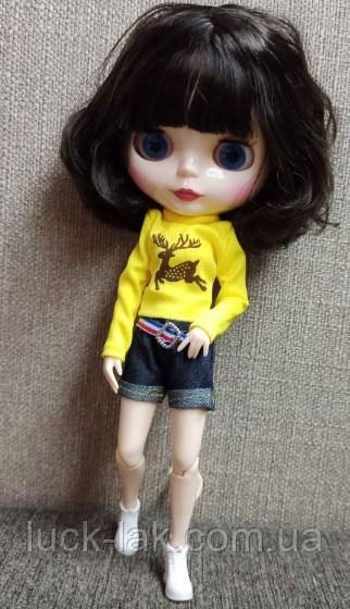 Шарнірна лялька Блайз (Айсі ), каре волосся чорний колір + 10 пар рук, одяг і взуття в подарунок