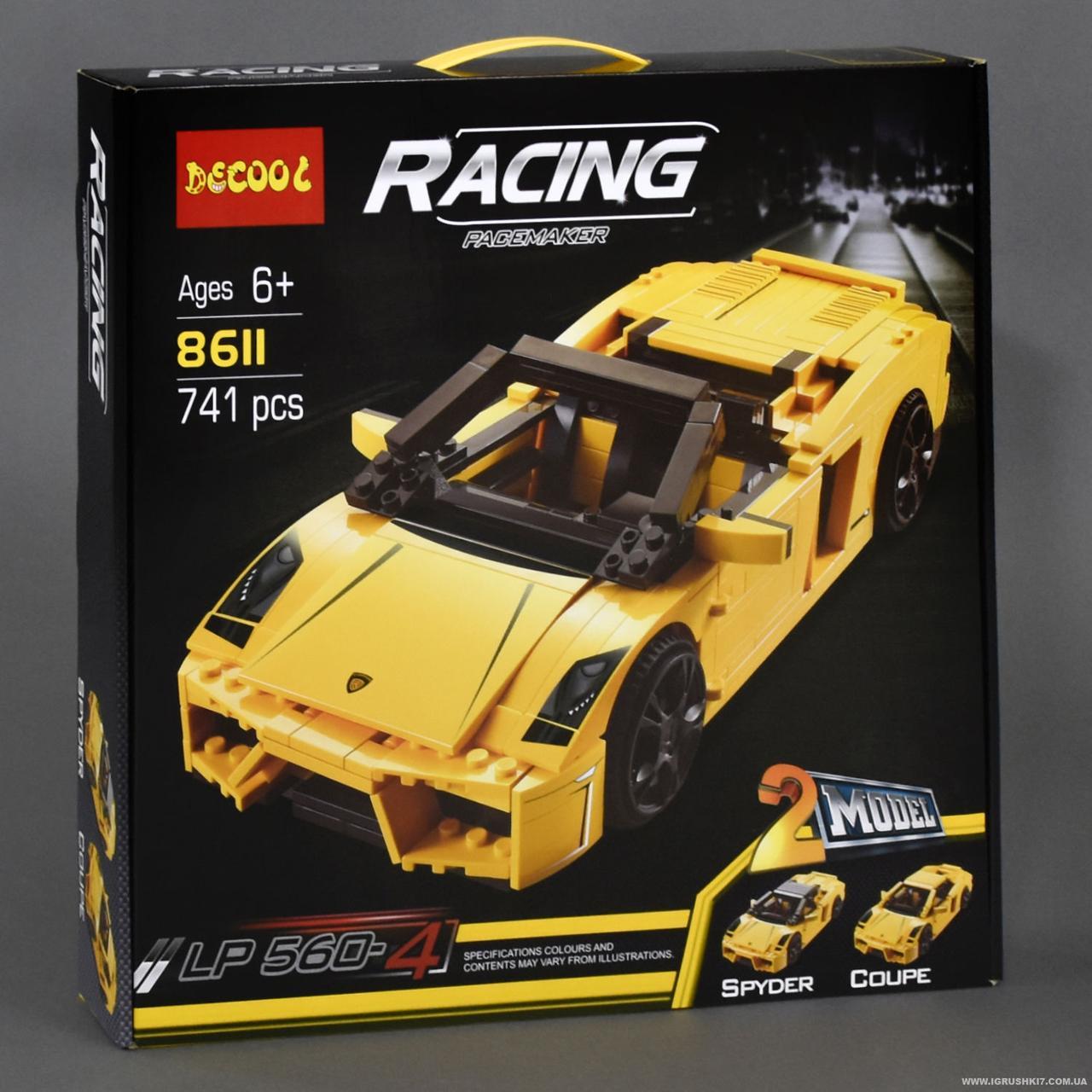 Конструктор 8611 Decool Racing 741 деталь