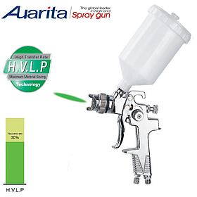 Краскопульт пневматичний тип HVLP верхній пластиковий бачок, діаметр форсунки-1,3 мм AUARITA H-970P-1.3