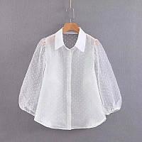 Женская блузка белая в стиле Zara размер M