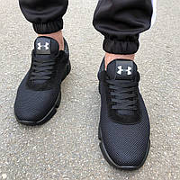 Мужские кроссовки в стиле Under Armour черные, фото 1