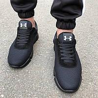 Мужские кроссовки в стиле Under Armour черные